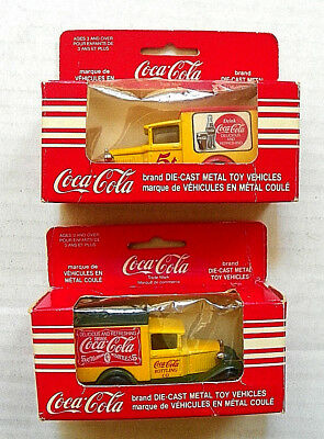 "(Lot Of 2)1979 Matchbox ""coca-Cola"" Model ""a"" Ford Sold In Canada (Irwin Toy)"