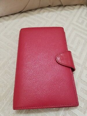 Filofax Calipso Personal Compact Organizer - Red - Excellent Condition