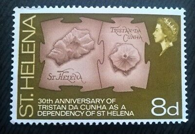 St Helena stamps - 30th Anniv. of Tristan da Cunha as Dependency  1968 8d