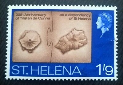 St Helena stamps - 30th Anniv. of Tristan da Cunha as Dependency  1968 1'9d