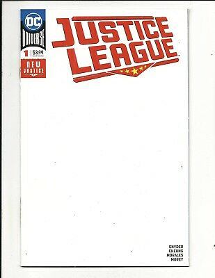JUSTICE LEAGUE # 1 (New Justice, BLANK COVER VARIANT, Aug 2018), NM NEW