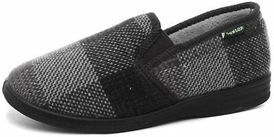 Mens Dunlop Luxury Slippers Quality Fleece Lining And Full Rubber Outdoor Sole