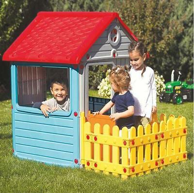 Dolu My First House with Fence Kids Playhouse Indoor Outdoor - 2 Years +