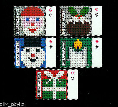 Christmas 1996 set of 5 mnh stamps Gibraltar Designed with Lego blocks