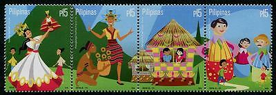 Fiestas mnh strip of 4 stamps 2016 Philippines