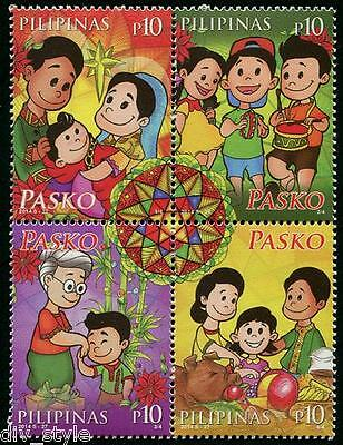 Christmas se-tenant block of 4 stamps mnh Philippines 2014