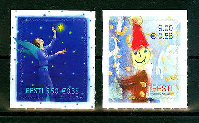 Christmas stamps year 2010 mint set of 2 self-adhesive Estonia