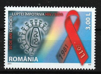 AIDS HIV campaign 30th anniversary mnh stamp 2011 Romania #5274