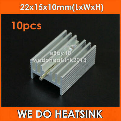 10pcs 22*15*10mm Aluminum Heatsink Radiator Heat Sink for TO-220 TO220 7805 7812