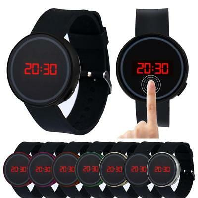 Fashion Mens Womens Watches LED Digital Date Silicone Strap Sports Wrist Watch