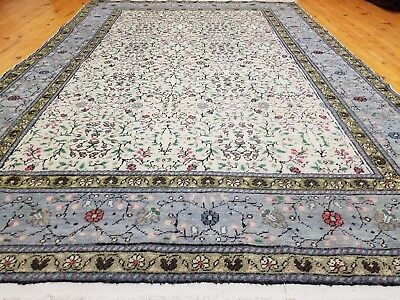 Exquisite1930-1940s Antique Muted Dyes 5x8ft Wool Pile Legendary Hereke Rug