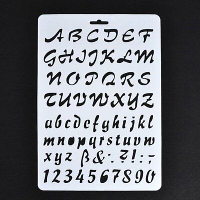 5X(Lettering Stencils, Letter and Number Stencil Painting Paper Craft Stenc F5Y2