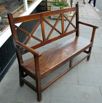 Antique Primitive Oak Welsh Borders Settle