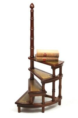 Antique Yew Library Steps Circular Step Ladder - FREE Shipping [PL4481]