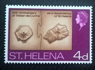 St Henena stamps - 30th Anniv. of Tristan da Cunha as Dependency 4d - FREE P&P