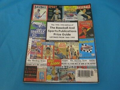 1995-1996 Edition Baseball And Sports Publications Price Guide From 1860-1995