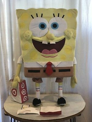 Rare SpongeBob SquarePants Standing Plush Figure w/Accessories 2005 1/1315