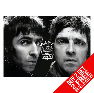 Oasis Poster Liam Noel Gallagher Cc6 Art Print A4 A3 Size - Buy 2 Get Any 2 Free