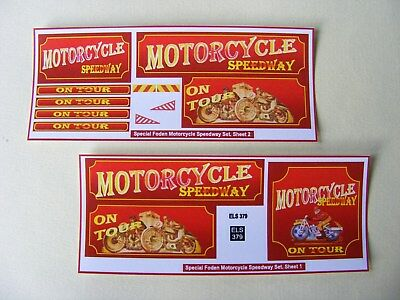 Motorcycle Speedway Lorry Side Conversion Sticker Set