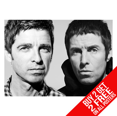 BUY 2 GET ANY 2 FREE OASIS POSTER LIAM NOEL GALLAGHER CC6 ART PRINT A4 A3 SIZE