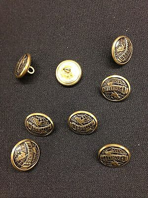Original 1950s Schlitz Beer Uniform Button Lot Of 8