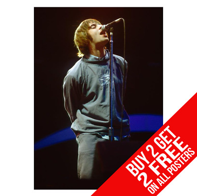 Liam Gallagher Oasis Maine Road Poster Print A4 A3 Size - Buy 2 Get Any 2 Free