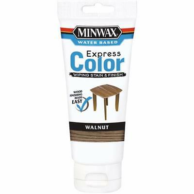 Minwax Express Color Low Lustre Water Based Wiping Stain / Finish Walnut 6 OZ