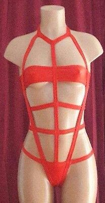 Exotic Dancewear,  Red Cage one piece