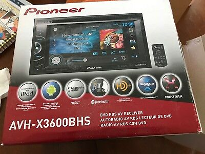 Pioneer AVH-X3600BHS Double Din DVD/Bluetooth/MP3/USB/Siri Eyes Free Receiver