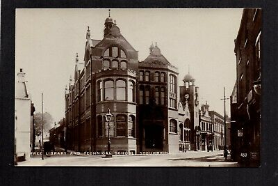 Stourbridge - Free Library and Technical School - real photographic postcard