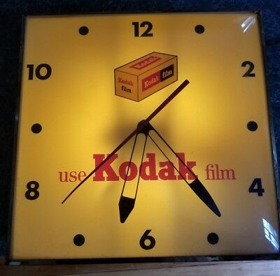 Vintage Kodak Film Advertising Clock - Running Condition rare work great antique