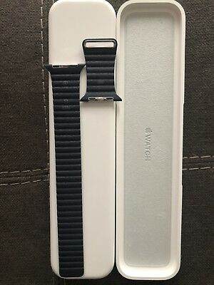Apple Watch Band 42 mm Midnight Blue Leather Loop w/ Magnetic Closure was $149
