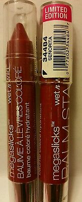 Lot of 2 wet n wild megaslicks balm stain moisturizing lip color senorita Ltd ed
