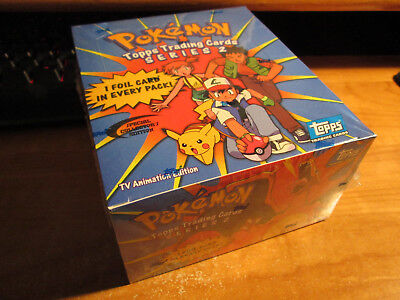 SEALED Pokemon TOPPS SERIES-2 Booster BOX Complete Pack Card Set TV Animation Ed