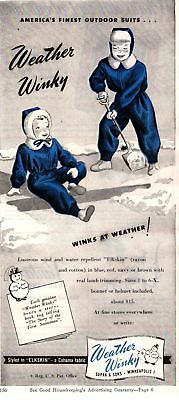 1945 Good Housekeeping Magazine Advertisement Weather Winky 3/4 Page Ad 329