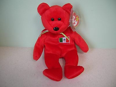 Osito Mexico Bear  retired 1999 Ty Beanie Baby stuffed UGC with tag protector