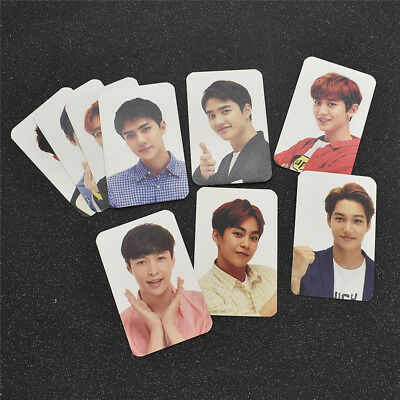 9Pcs/Set Kpop EXO Figure Keyring Photo Card Lomo Cards Korean CHEN Collections
