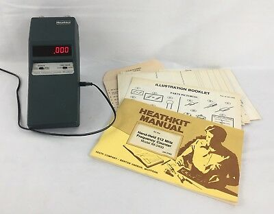 Heathkit IM-2400 Digital Frequency Counter With Adaptor and Manuals -C8