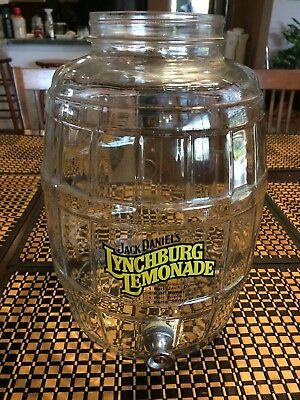 Jack Daniel's Lynchburg Lemonade Glass Barrel W/spigot