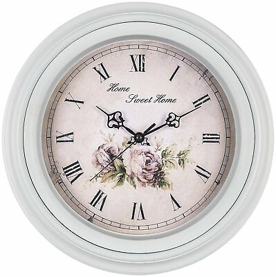 Decorative Wall Vintage Style Clock Silent Non Ticking Quartz Battery 14 Inch