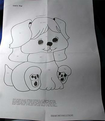 """VTG WALL ART DIY MAIL ORDER PAPER WOODWORKING PATTERN, 14"""" LITTLE PUP, puppy DOG"""