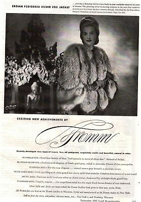 1945 Good Housekeeping Magazine Advertisement Fromm Bros Furs 1 Page 335