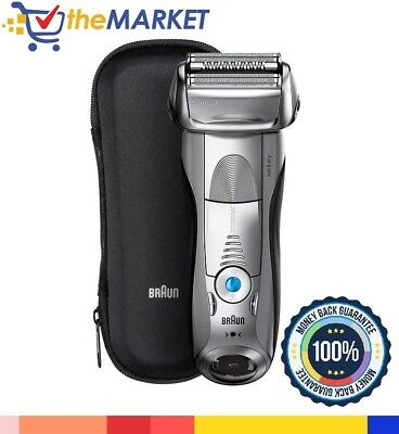 Braun Series 7 Smart Shaver 7893s Wet & Dry Travel Case & Brush Included NFL