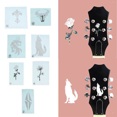 Inlay Sticker Headstock Decal Sticker for Acoustic Classical Guitar Parts #1