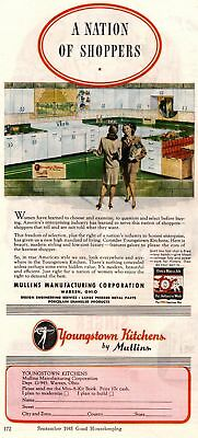 1945 Good Housekeeping Magazine Advertisement Youngstown Kitchens 3/4 Page 337