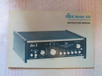 dbx BRAND. MODEL 128. DYNAMIC RANGE ENHANCER. OWNER'S MANUAL