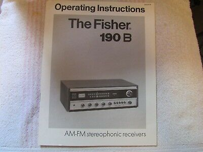 The Fisher Brand. Model 190-B. Stereo Receiver. Owner's Manual
