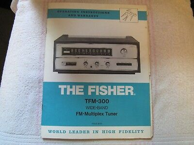 The Fisher Brand. Model Tfm-300. Stereo Fm Tuner. Owner's Manual