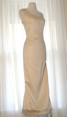 EVER BEAUTY Formal Gown & Jacket Champagne Satin Size 14 Mother Of Bride Dress