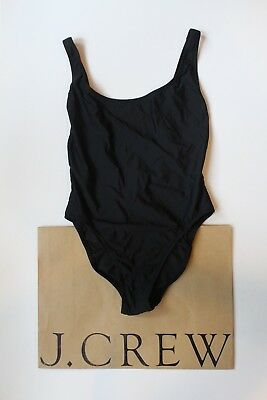 ea3b502815 NEW J Crew Plunging Scoopback One Piece Swimsuit BLACK Sz 2 XS Extra Small  H8249